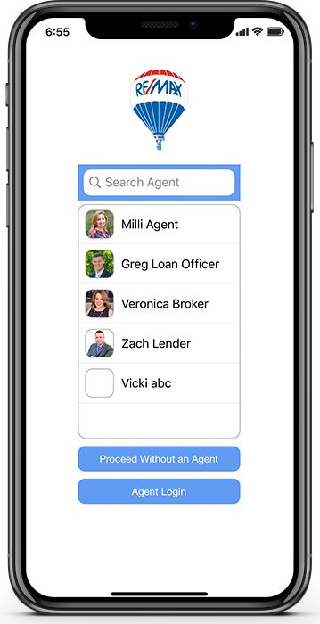 2-Company-Branded-App-Agent-Select-Screen