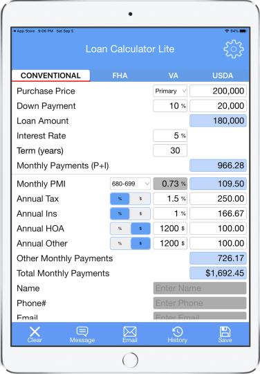 Loan Calculator;Mortgage Calculator