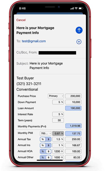 Loan Calculator;Mortgage Calculator for Realtors & Loan Officers
