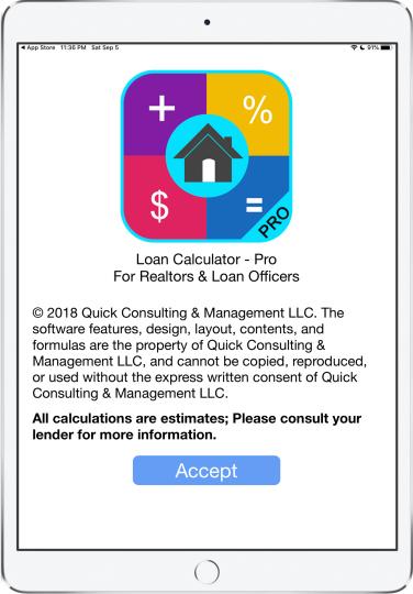 Loan Calculator for Realtors; Mortgage Calculator for Loan Originator